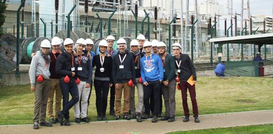 Visite de la centrale électrique de EDF à Martigues.
